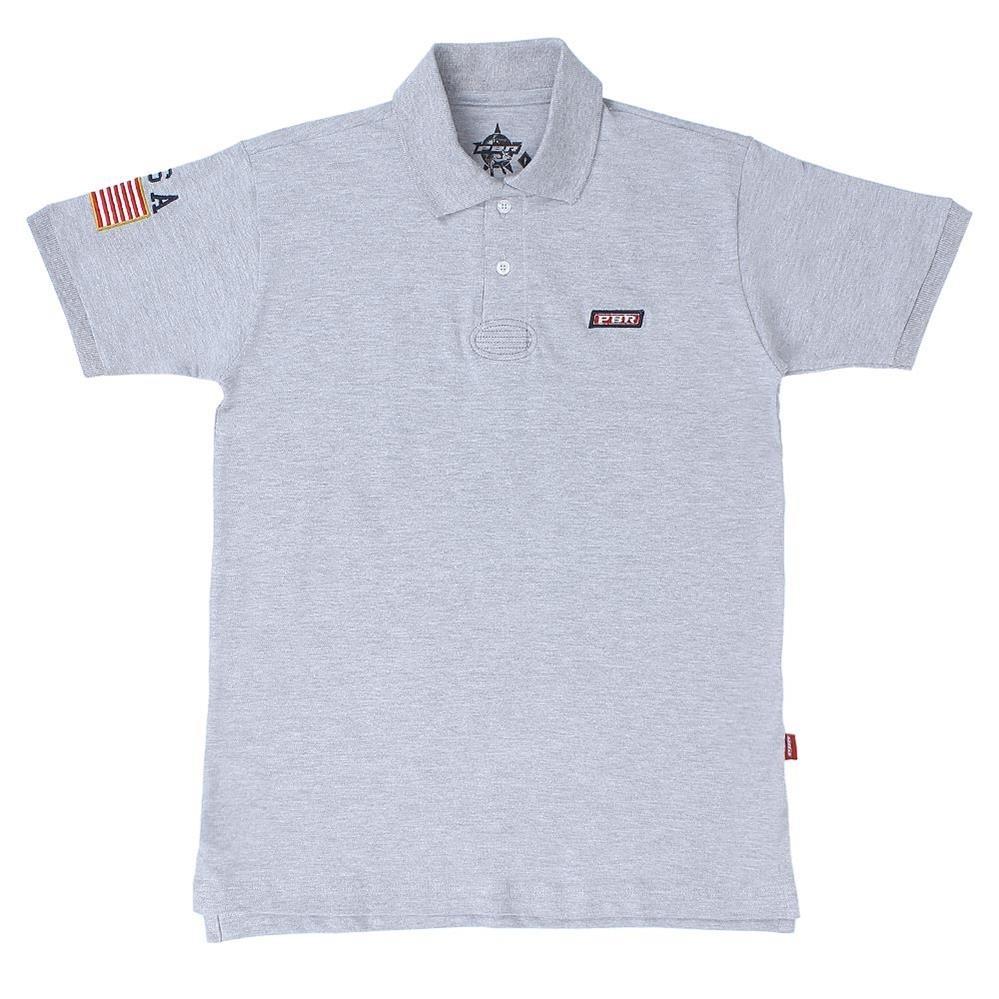 camisa polo cinza mescla masculina pbr 20202. Carregando zoom. 1b73e9287d9
