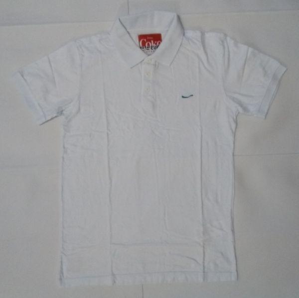 Camisa Polo Coca-cola Jeans Branca Masculina Algodão 00769 - R  89 ... 9f23798dce54e