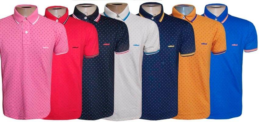 58558b5abe camisa polo col cci azul marinho desenhos ( várias cores ). Carregando zoom.