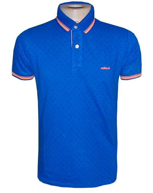 0a3671c6fb088 Camisa Polo Col Cci Azul Royal Desenhos ( Várias Cores ) - R  89