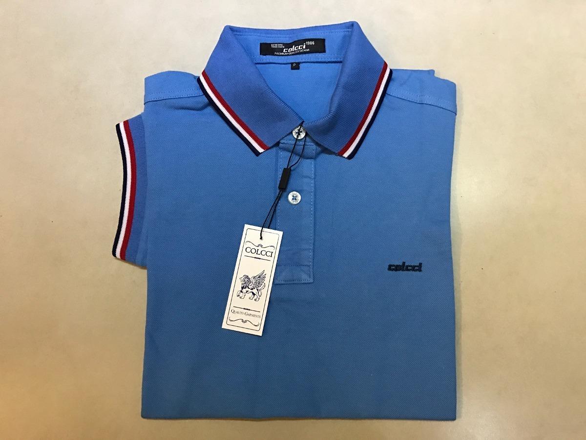 3b1c565a13 Camisa Polo Colcci Azul Original - R  120