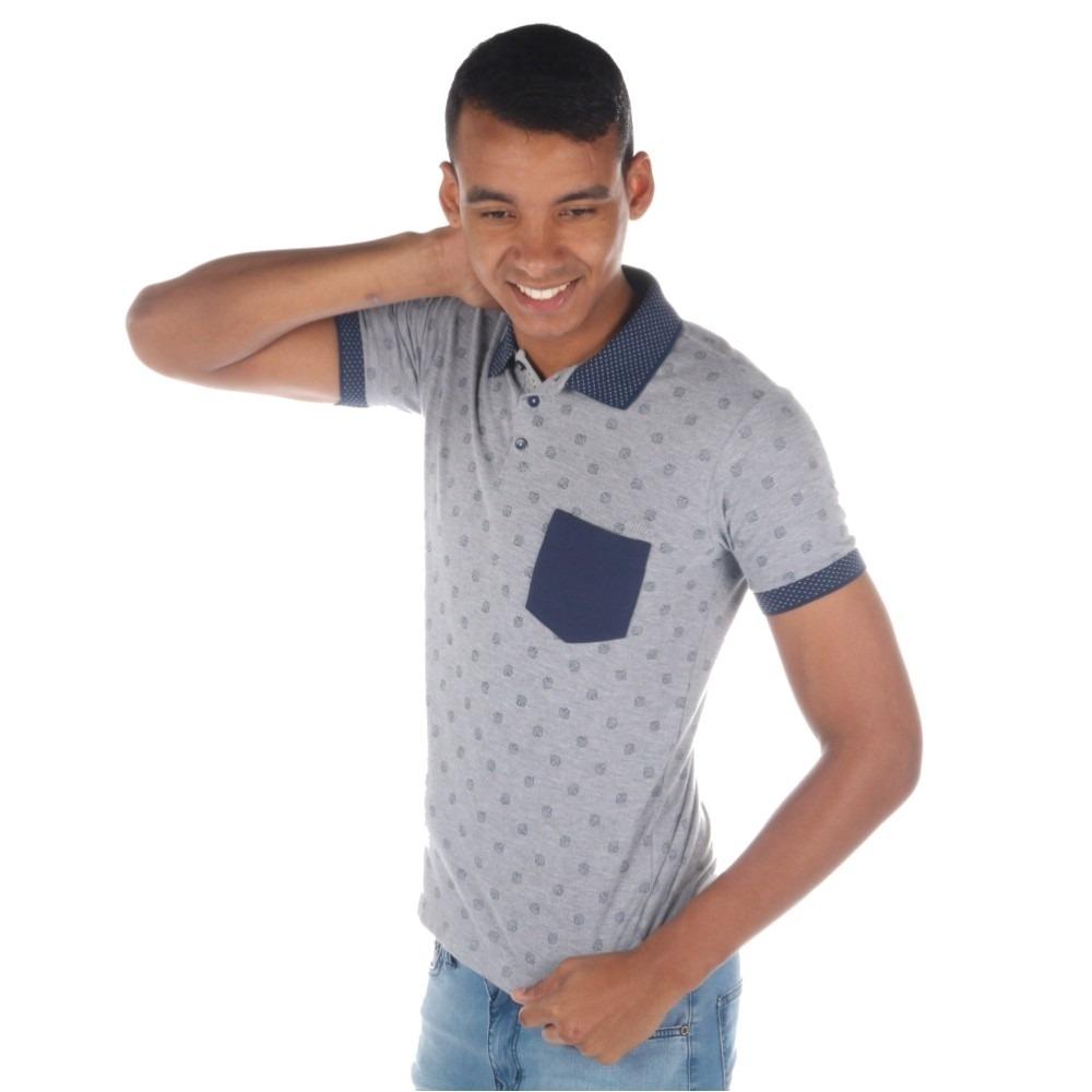 camisa polo colcci masculina estampada com bolso. Carregando zoom. a7a9fd406d139