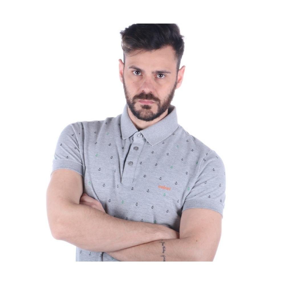 camisa polo colcci masculina slim estampada tecido mescla. Carregando zoom. d9f213707e1aa