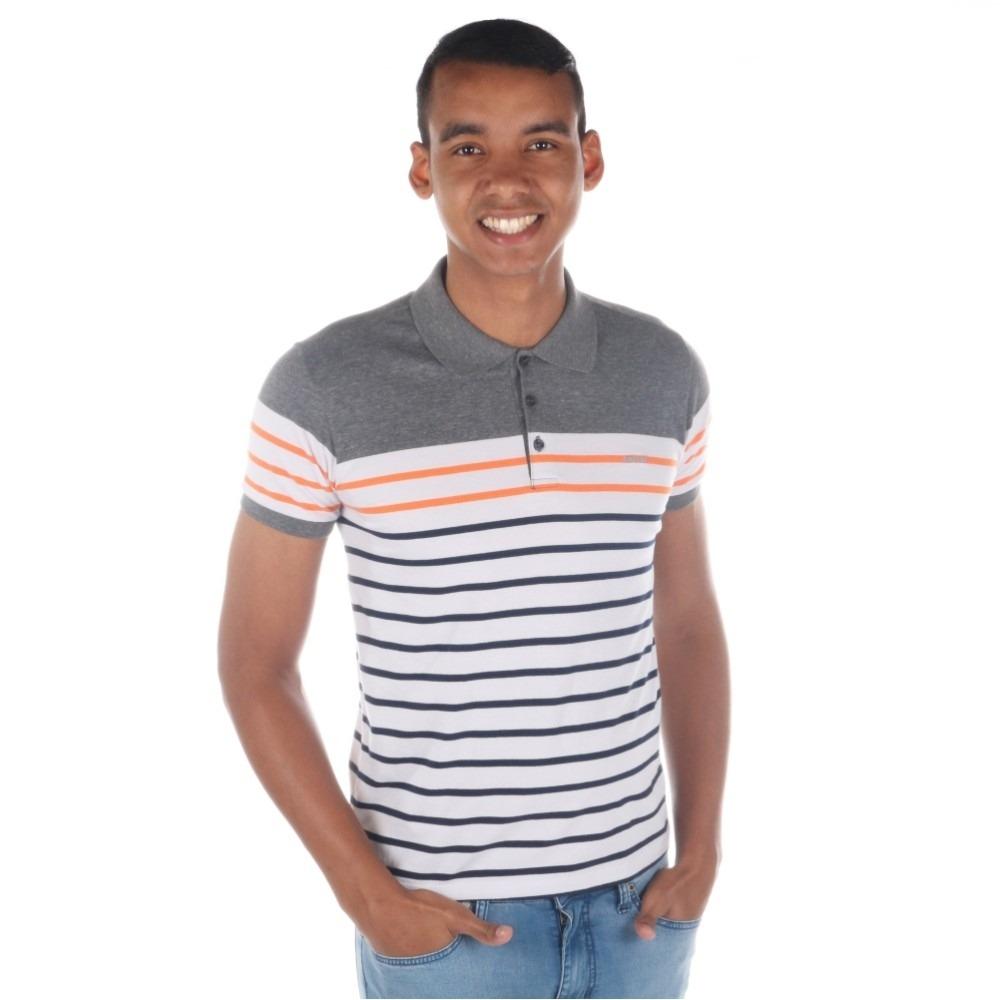 camisa polo colcci masculina slim listrada. Carregando zoom. a969cca95634a