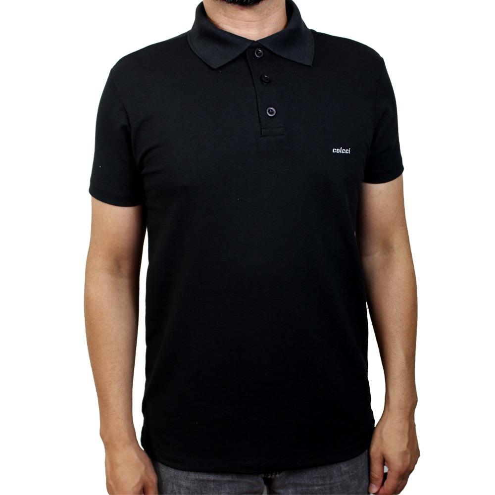 camisa polo colcci preta básica. Carregando zoom. c10aa9a6427c0