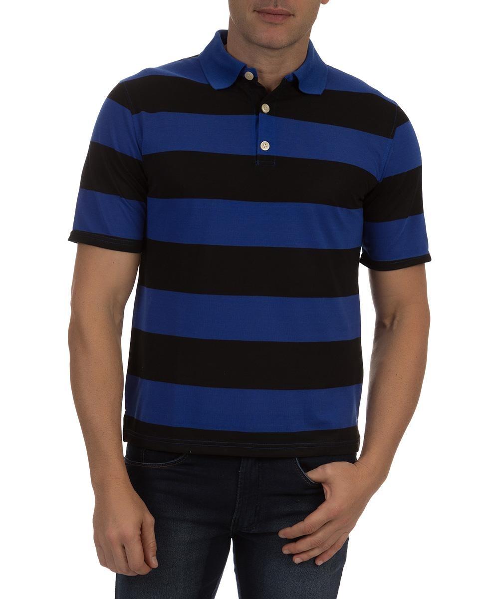 2f33b639f0 camisa polo colombo masculina azul listarada. Carregando zoom.