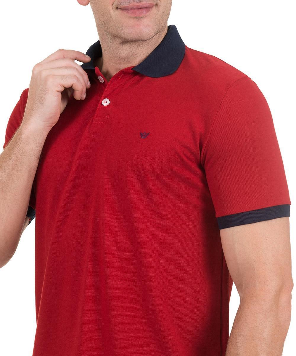 128015759d camisa polo colombo masculina com detalhe vermelha. Carregando zoom.