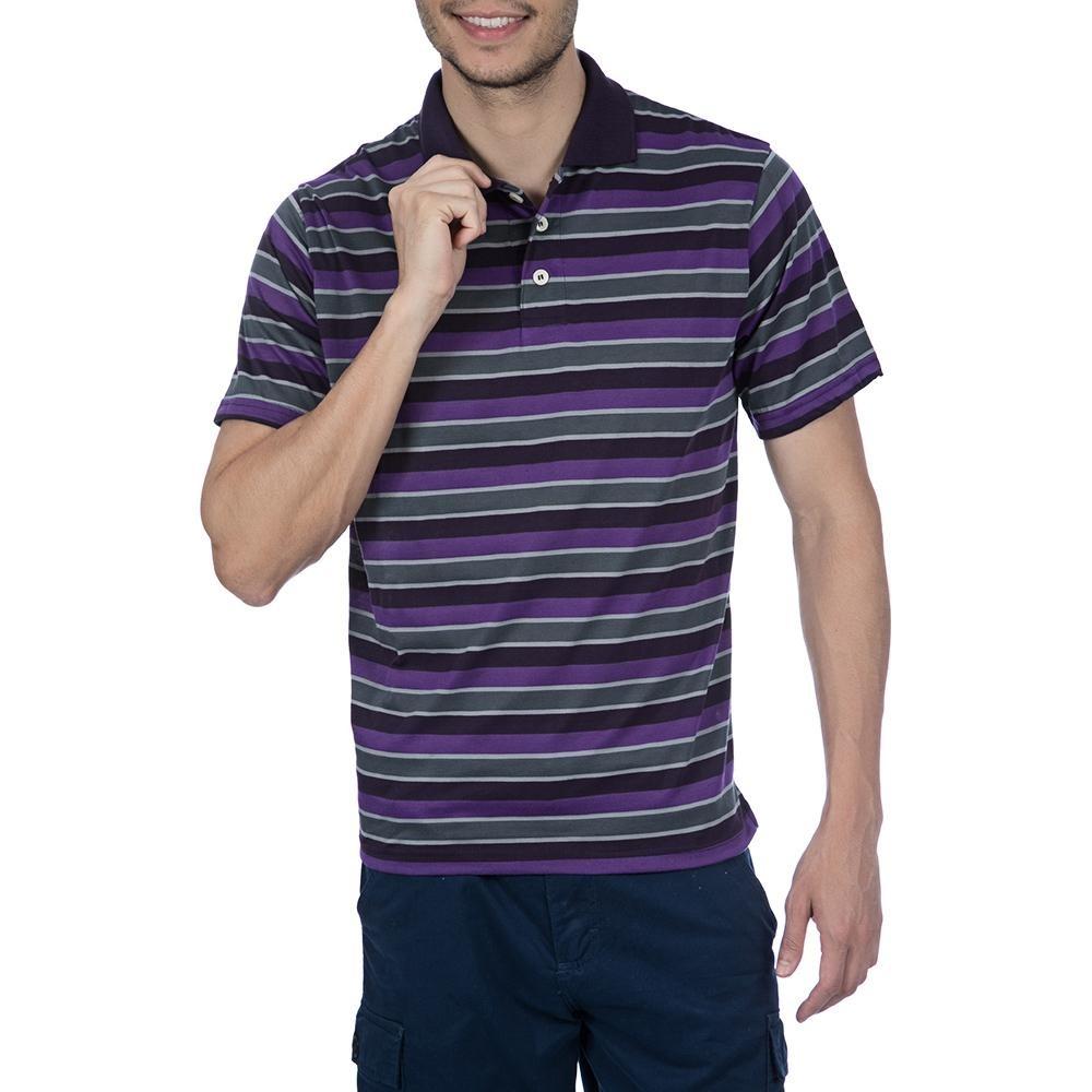 8491273057 Camisa Polo Colombo Masculina Roxa Listrada 34517 - R  59