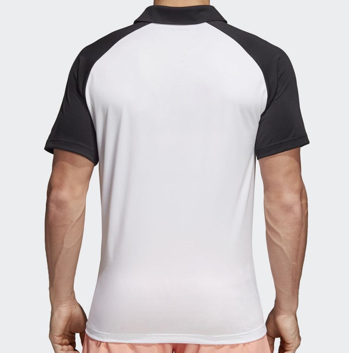 camisa polo colorblock club adidas preta e branca. Carregando zoom. 99ee7e476a0df