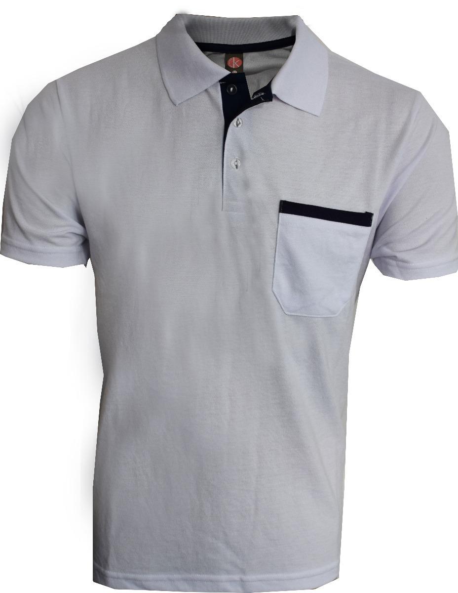 58350c13e1 camisa polo com bolso piquet 50% algodão 50% poliéster. Carregando zoom.