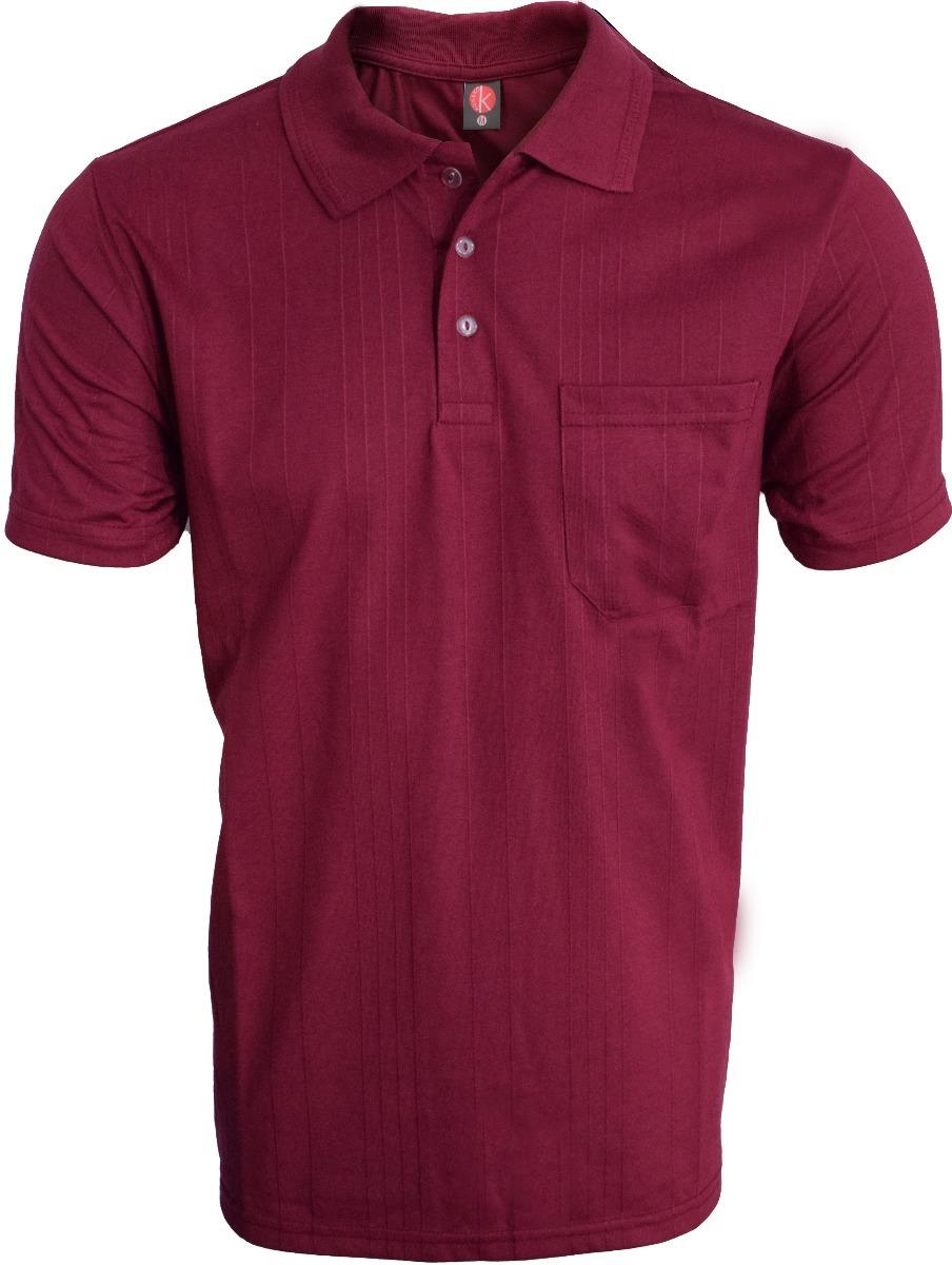 eb266b3d1cbe3 Camisa Polo Com Bolso Poliester E Viscose Kit 3 Peças - R  133
