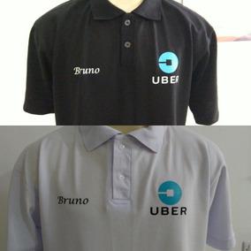 35334a622c9 Camisa Polo Com Estampa Da Uber + Nome Personalizado