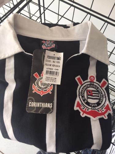 camisa polo corinthians réplica 1954 tamanho 8