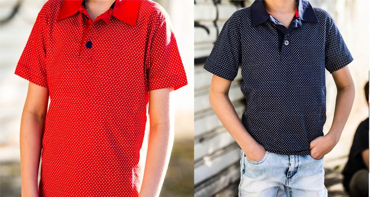5f2790f511 camisa polo criança masculina estampa bolinha 100% algodão. Carregando zoom.