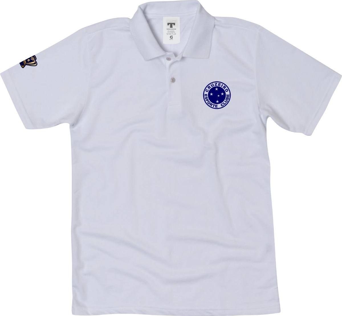 camisa polo cruzeiro azul ou branco blusa do cruzeiro polo. Carregando zoom. ff8ef1ca7ae4b
