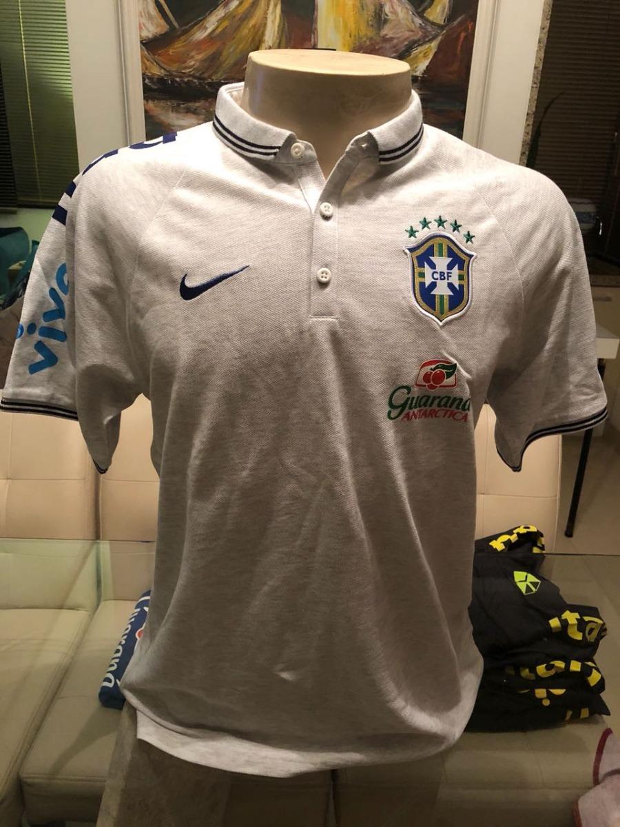 camisa polo da seleção brasileira c  patrocínios nova. Carregando zoom. d0050859a312b