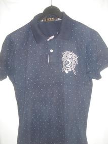 aa2e6dc26d Camisa Polo Bolinhas - Pólos Manga Curta Masculinas Azul marinho no ...