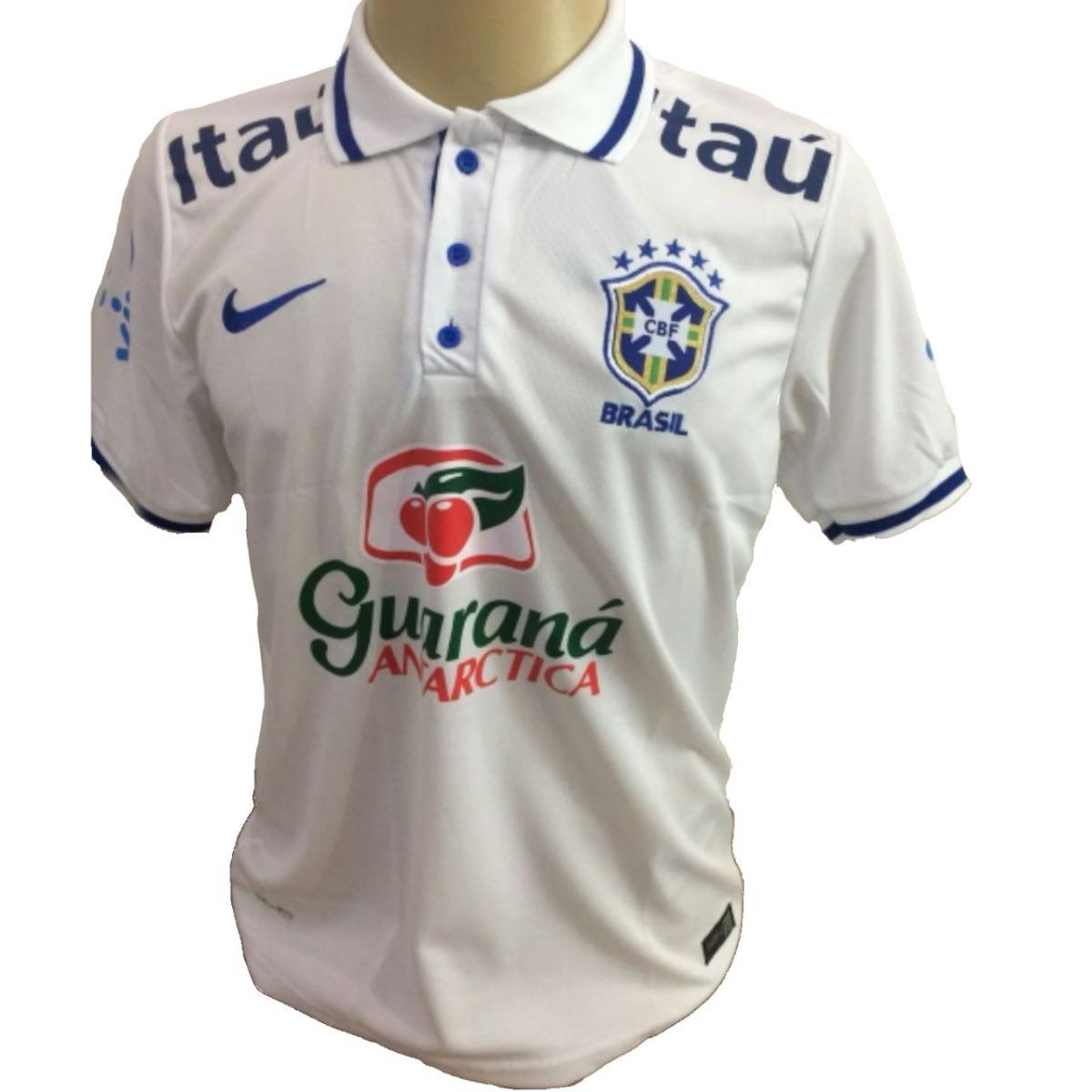 804f7a342b camisa polo de treino brasil branca seleçao copa 2018. Carregando zoom.