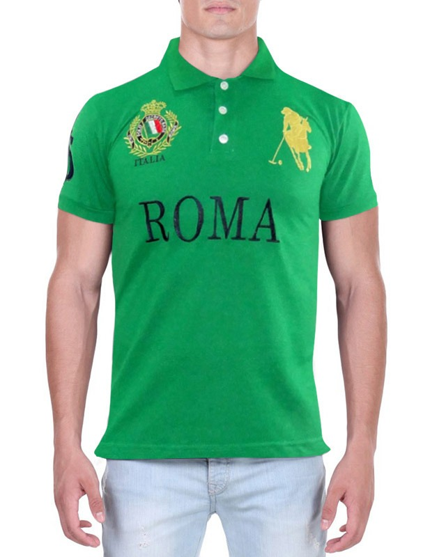596ab90661373 camisa polo decreto base roma verde. Carregando zoom.