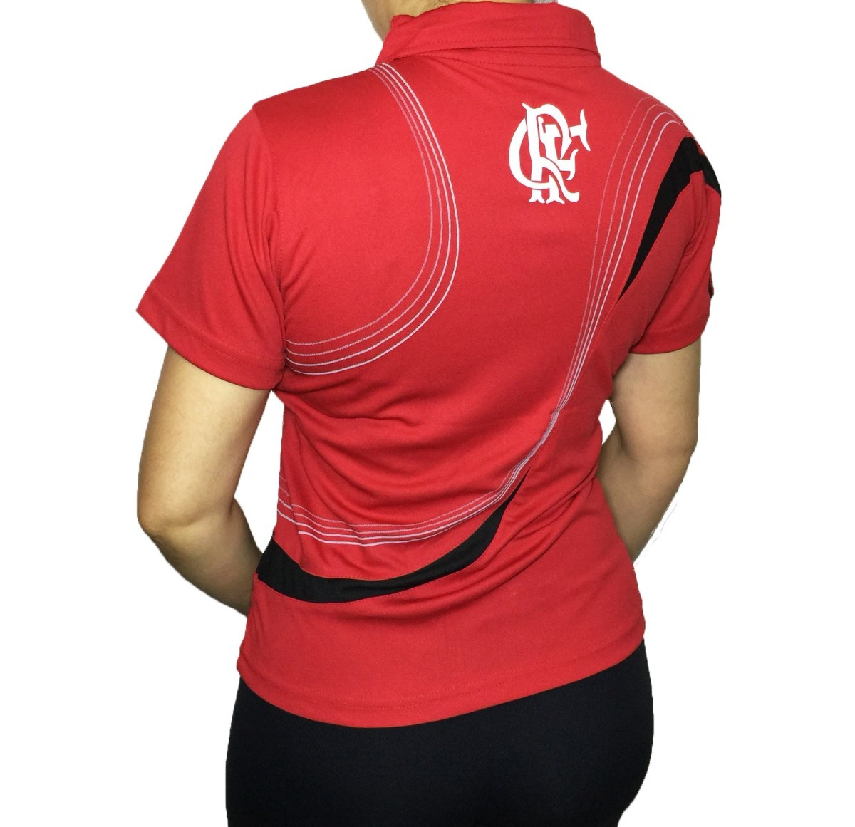 camisa polo do flamengo baby look feminina oficial. Carregando zoom. fb8af23df9820