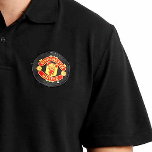 camisa polo do manchester united ofical escudo bordado
