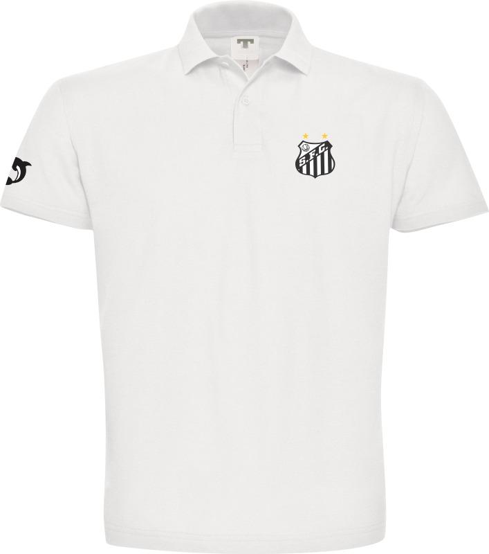 506caa9a710a8 camisa pólo do santos futebol clube nas cores preto e branco. Carregando  zoom.