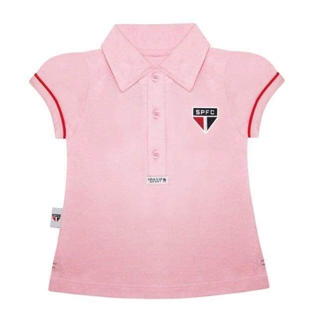 4963e76fc Camisa Polo Do São Paulo Infantil Oficial Menina - R$ 68,03 em ...