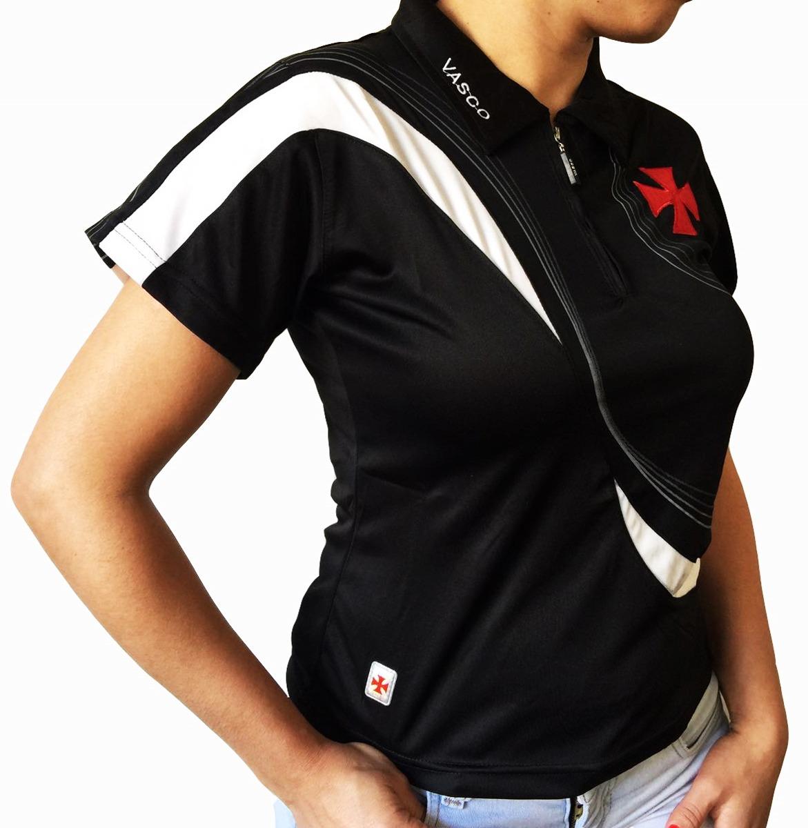 1280fdd69 Camisa Polo Do Vasco Feminina Baby Look Oficial - R$ 46,99 em ...