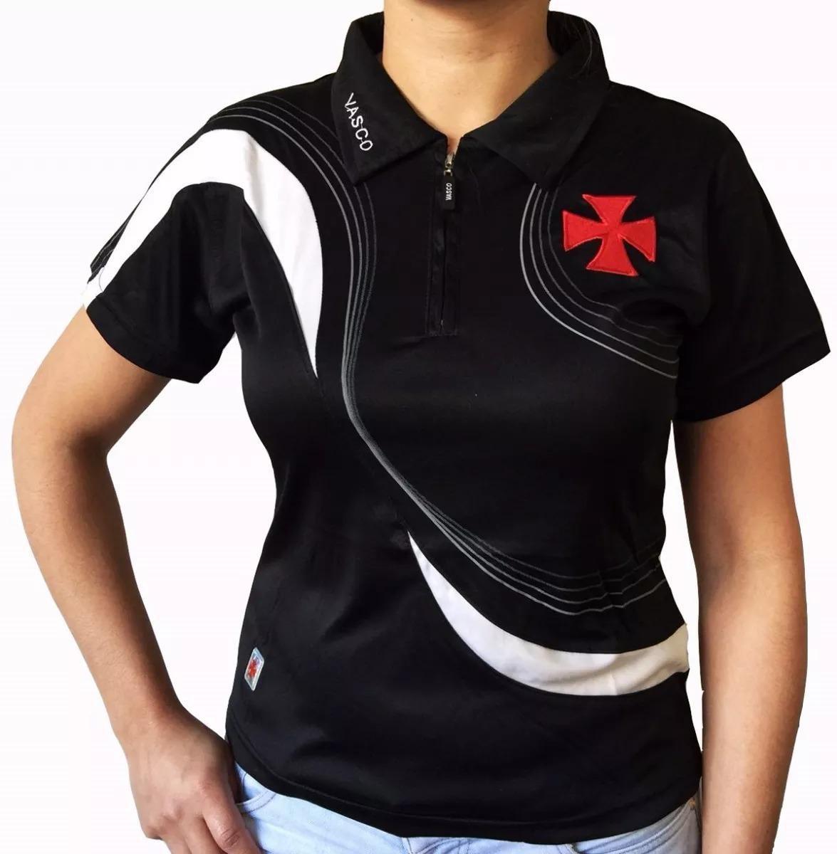 15db36a8b Camisa Polo Do Vasco Feminina Baby Look Oficial - R$ 49,98 em ...