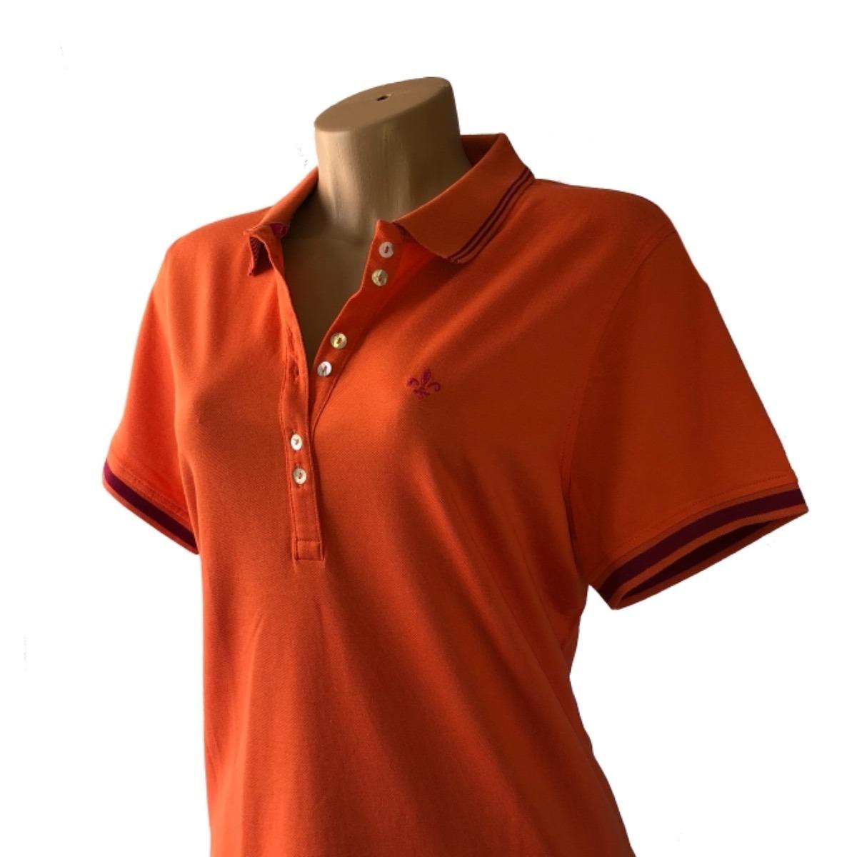 camisa polo dudalina manga curta tecido pique pima feminina. Carregando  zoom. 09163cbd8835b