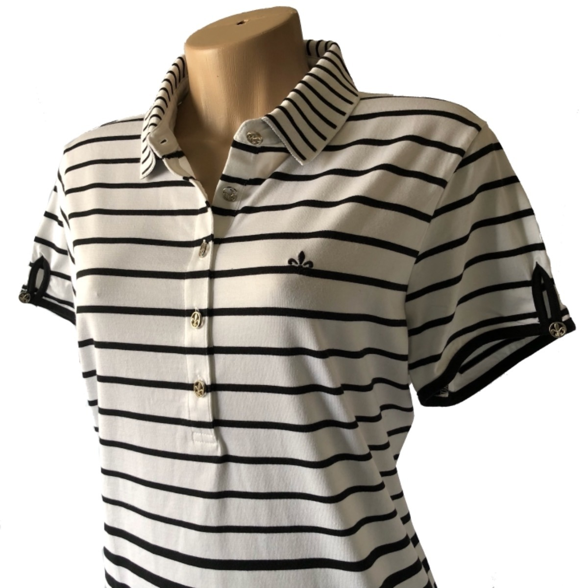 camisa polo dudalina original manga curta malha feminina. Carregando zoom. 748500ac3258f