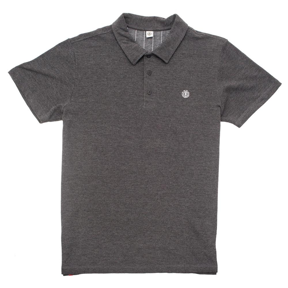 50b0a80bd1656 camisa polo element manga curta skate logo original cinza. Carregando zoom.