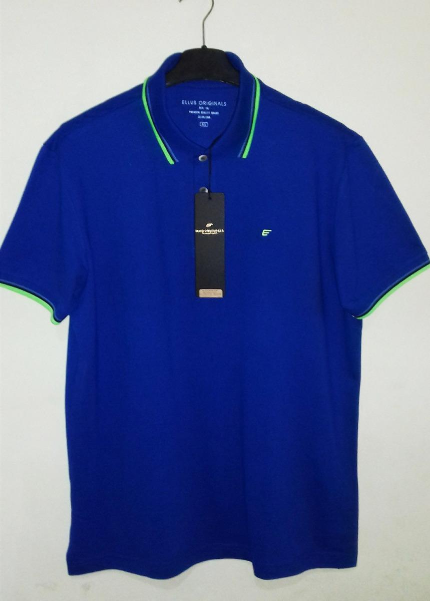 2ba3fd4247 camisa polo ellus masculina azul tm g   gg. Carregando zoom.