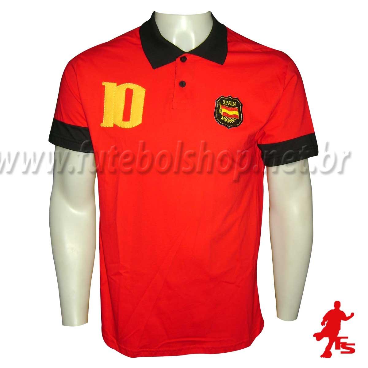 camisa polo espanha - 60391. Carregando zoom. 72f05ba5b4a9f