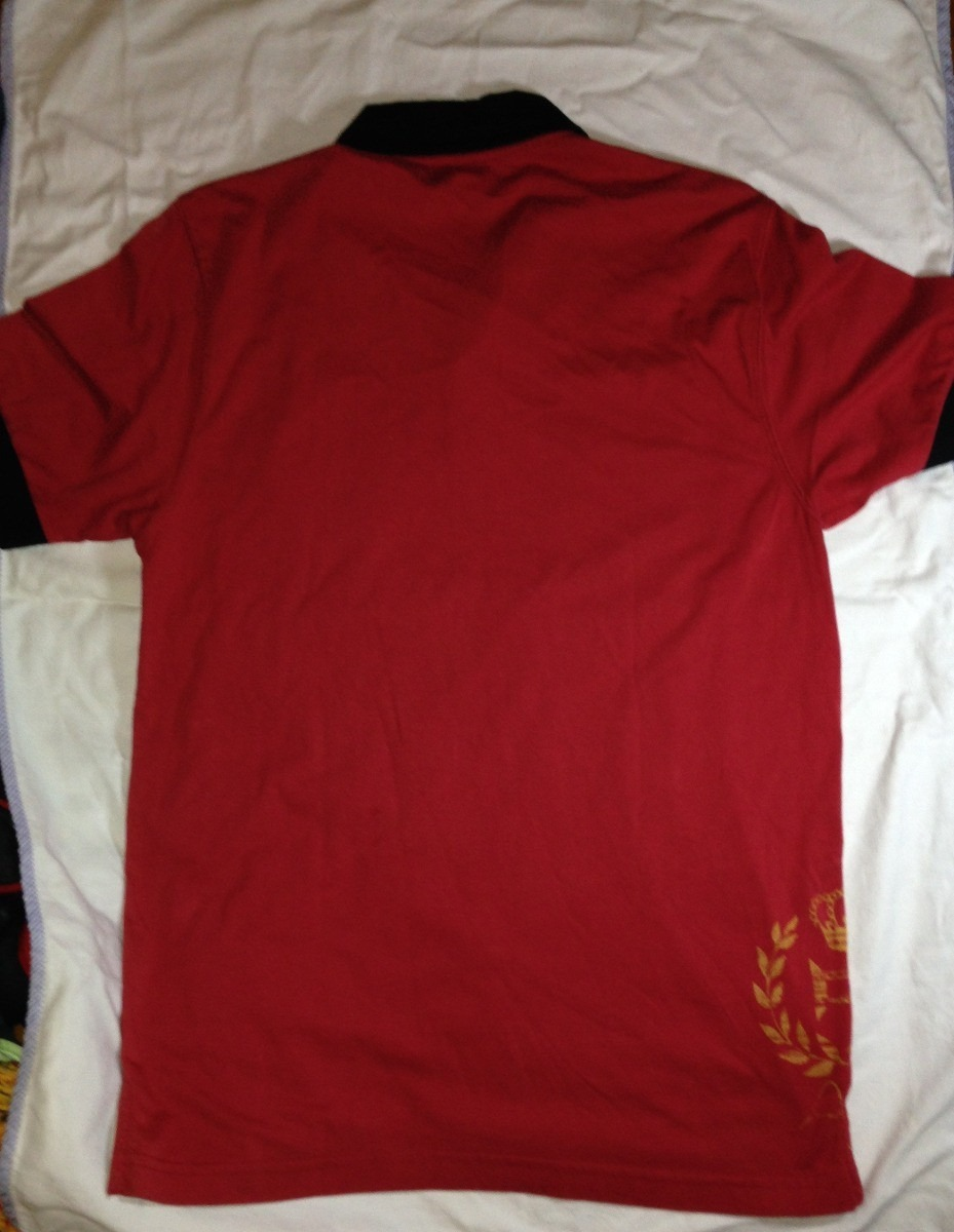 camisa pólo espanha vermelha tze african moda masculina. Carregando zoom. abaf9866d089d