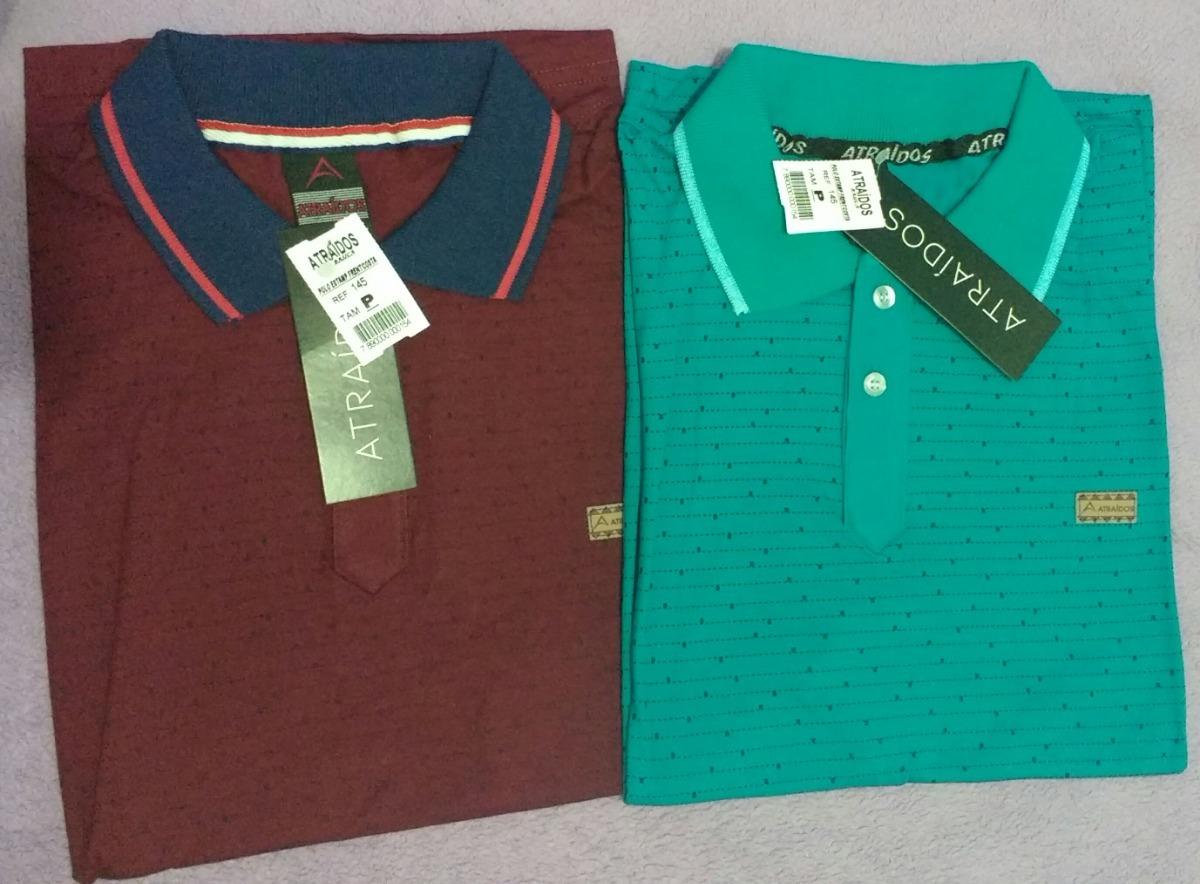 19e60effb2346 camisa polo estampada frente e costa 100% algodão ref 145. Carregando zoom.