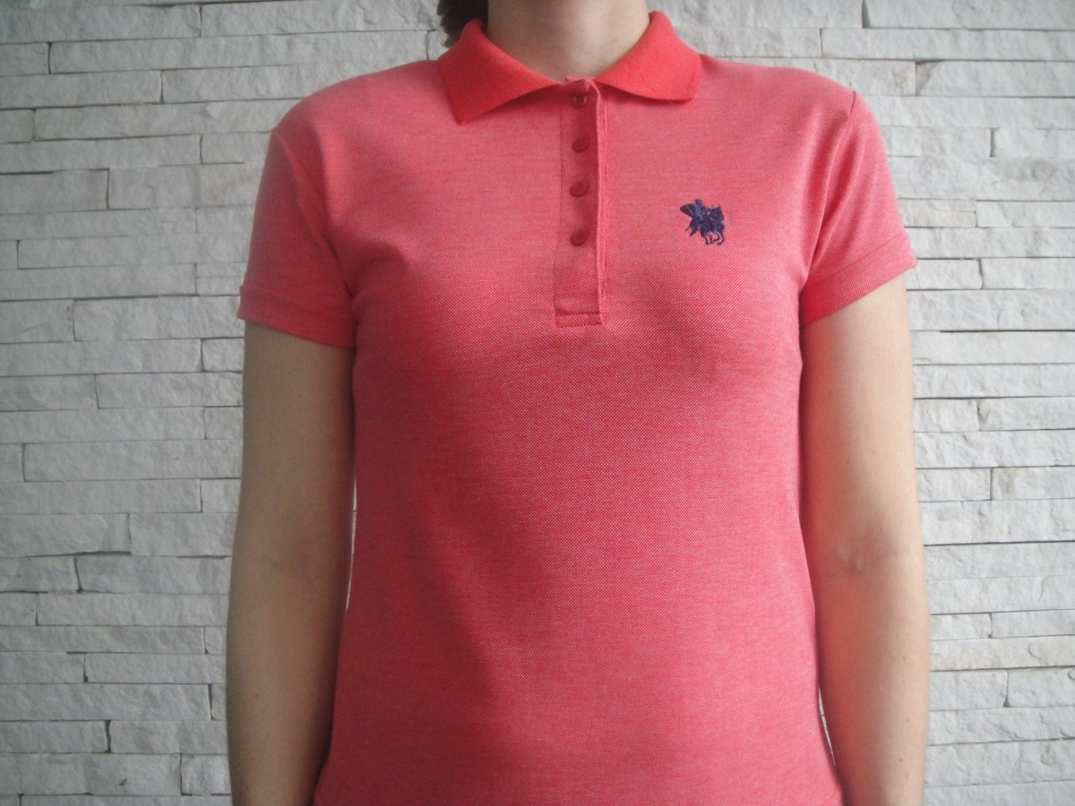 51b0b7ab48 camisa polo feminina acinturada - diversas cores. Carregando zoom.