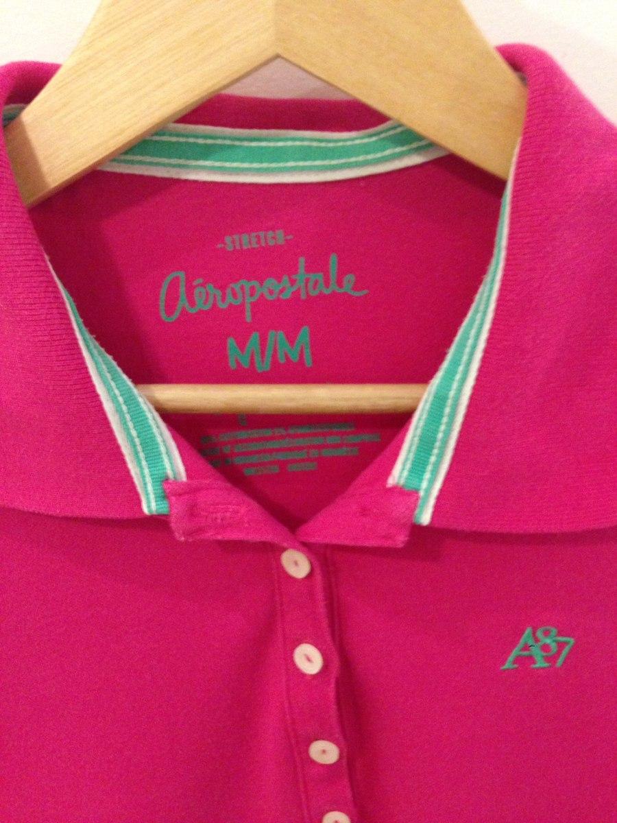 camisa polo feminina aeropostale rosa m. Carregando zoom. d83e6a970c96a
