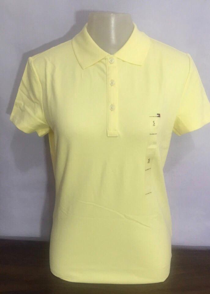 dae8899805875 camisa pólo feminina amarela tommy hilfiger 100% original. Carregando zoom.