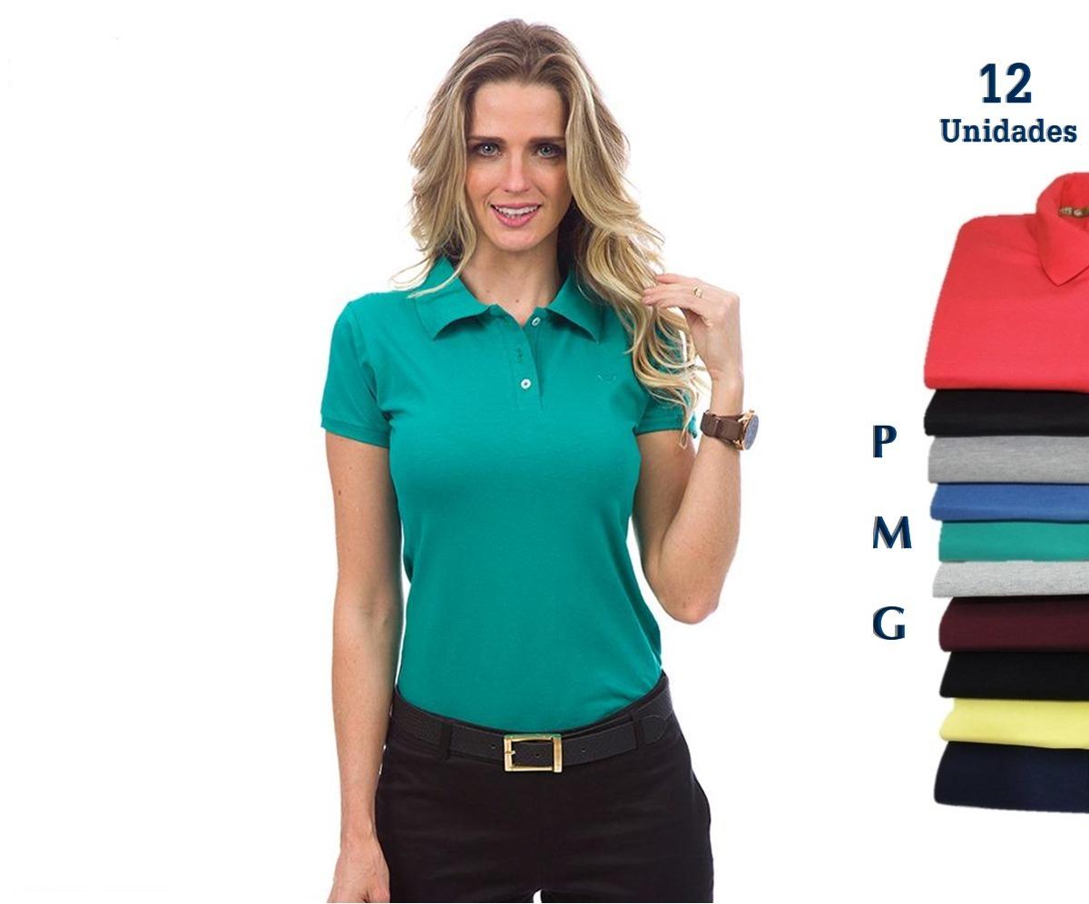 camisa polo feminina atacado kit 12 camisa direto da fábrica. Carregando  zoom. dec08a81673c5