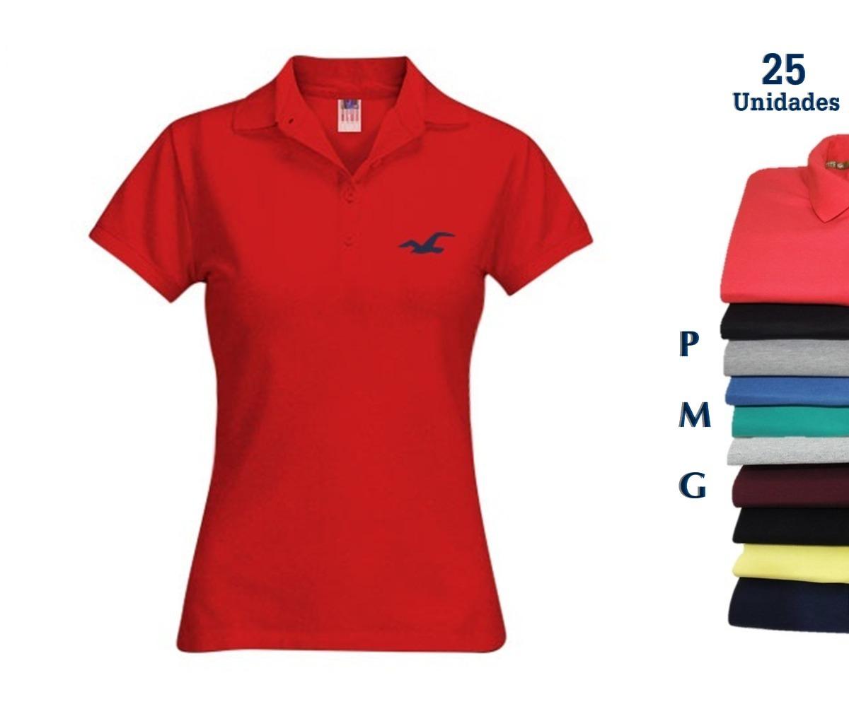camisa polo feminina atacado kit 25 camisa direto da fábrica. Carregando  zoom. 3d1861fcbcea0