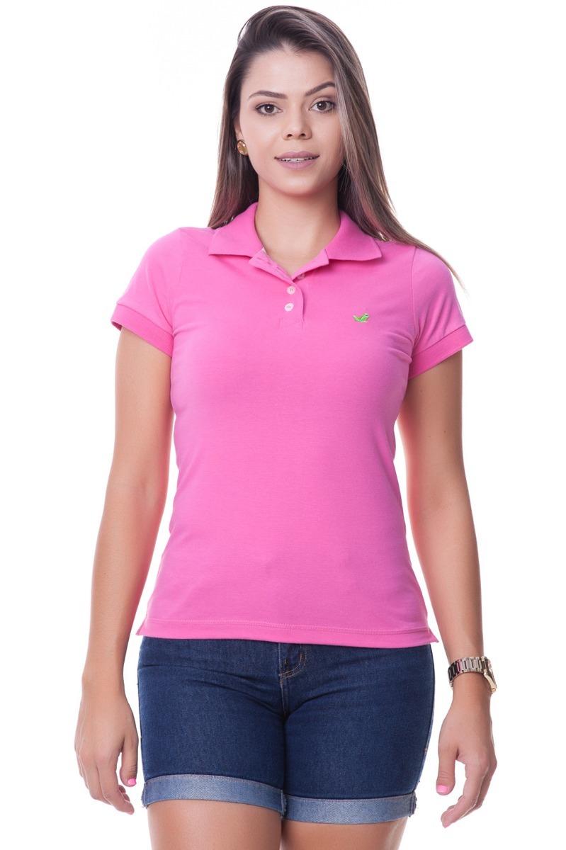 efc362d6c5 camisa polo feminina aveludada cor rosa. Carregando zoom.