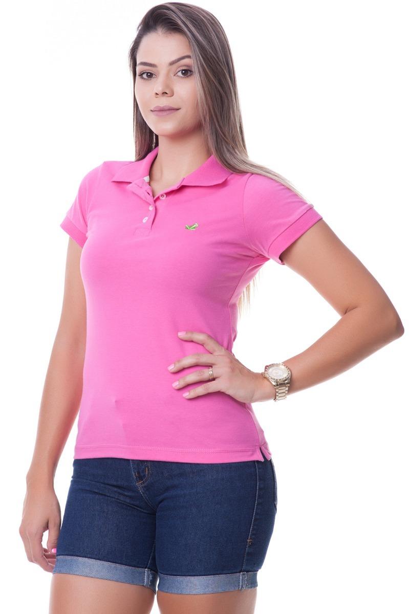 2746ea747c camisa polo feminina aveludada cor rosa. Carregando zoom.
