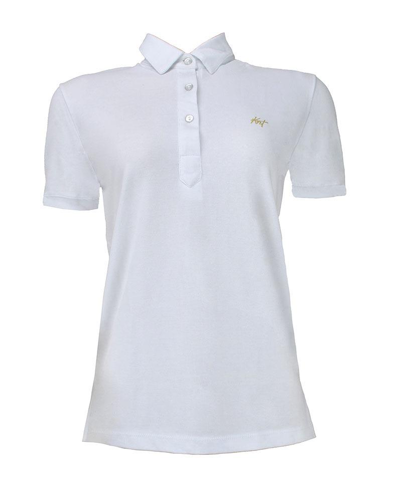 camisa polo feminina branca lisa gola de ponta pe222118bc. Carregando zoom. b1a883d0ccfbc