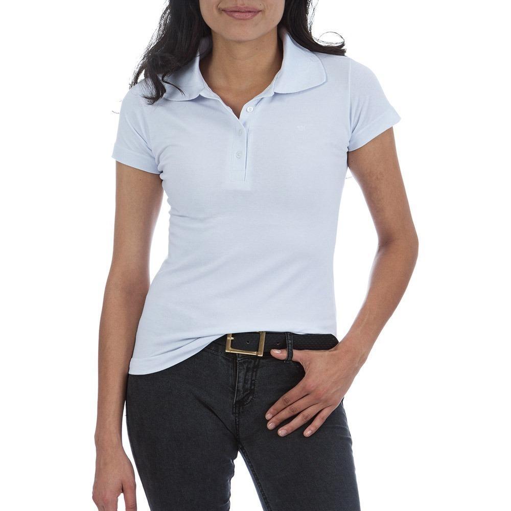 camisa polo feminina branca lisa - p-m-g-gg. Carregando zoom. ca403306f2433