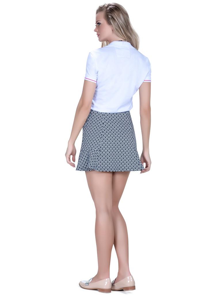 camisa pólo feminina branca principessa barbara. Carregando zoom. 681899190730a
