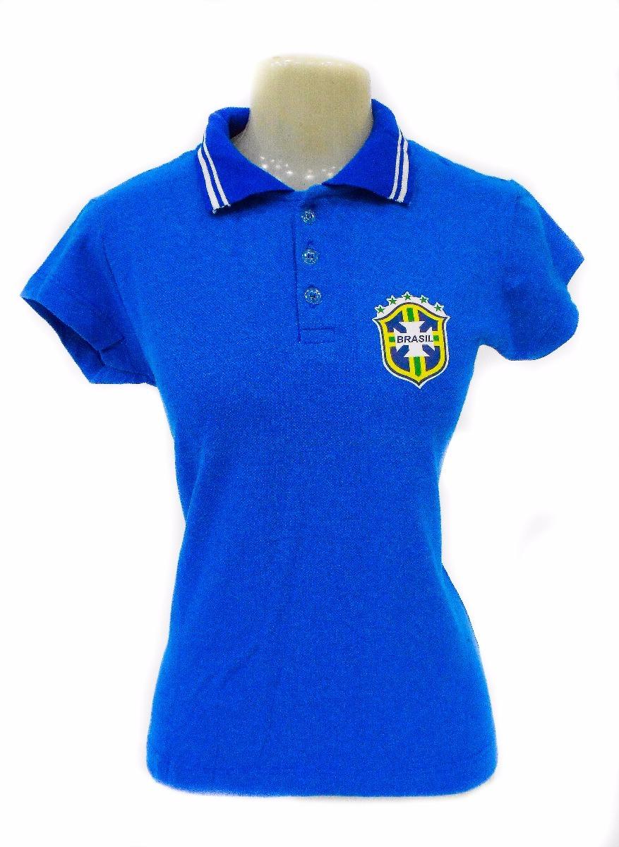 933a46da1c427 camisa polo feminina brasil seleção brasileira baby look. Carregando zoom.