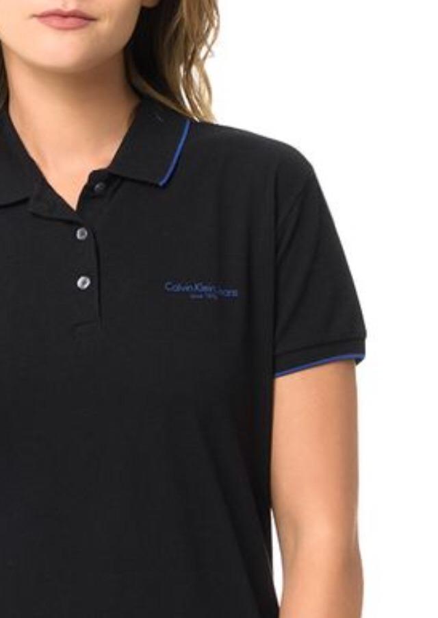 c54b2231d camisa polo feminina calvin klein jeans original piquet pret. Carregando  zoom.