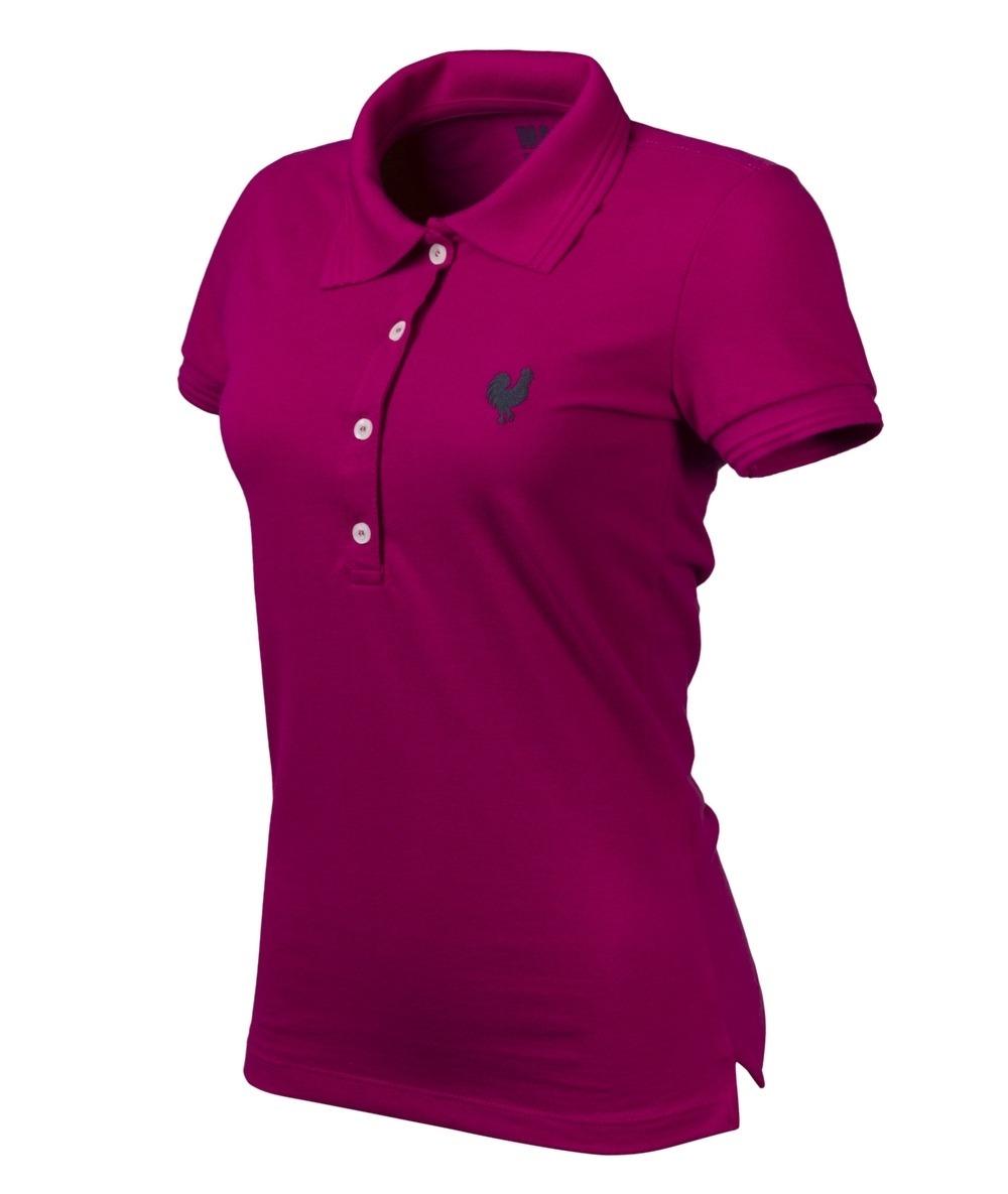 76903b09b3 Camisa Polo Feminina Casual Pink Made In Mato Jãum Jãum - R  89