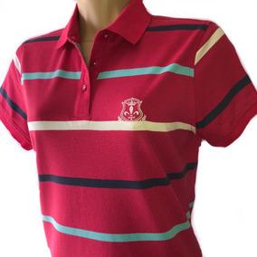 3c1f18ab6e Camisa Polo Feminina Listrada - Pólos Manga Curta Femininas no ...